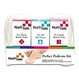 Nail Tek Kit, Pedicure Foundation 3, Protection Plus 3, Renew - 3 pc, Repair and Reinforce Dry, Brittle Nails, Prevents Nails Discoloration