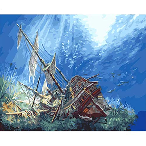 5D Diamond Painting Kits for Adults Full Diamond Painting Tool Rhinestone Embroidery Portrait Cross Stitch Crafts for Home Wall Decor Gift - Strike Ship 30 x 40 cm,cod.1307