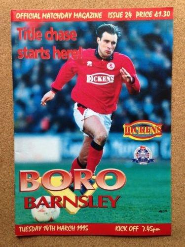 Middlesbrough Barnsley 14/03/95 AYRESOME Park Boro football programme (GR1)