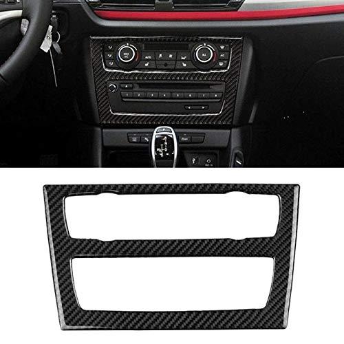 XHULIWQ Carbon-Faser-materielle Auto-CD Bedienfeld-Rahmen-Ordnungs-Abdeckung, für BMW E84 X1 2011 2012 2013 2014 2015