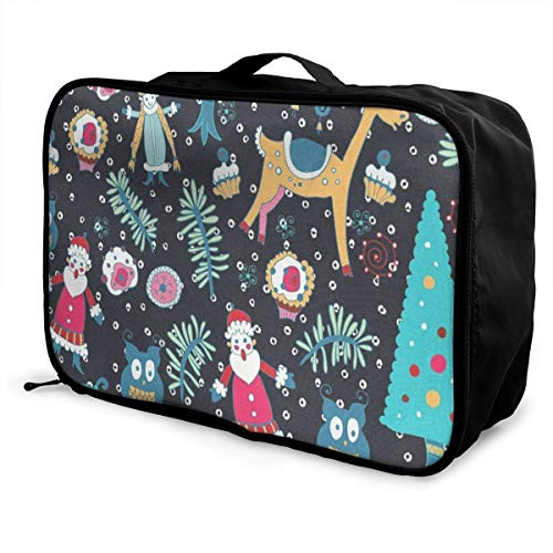 Lightweight Large Capacity Portable Luggage Bag Christmas Toys Foldable Storage Carry