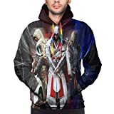 Assassin's Creed Anime 3D Print Man's Pullover Cool Loose Hooded Sweatshirt Black