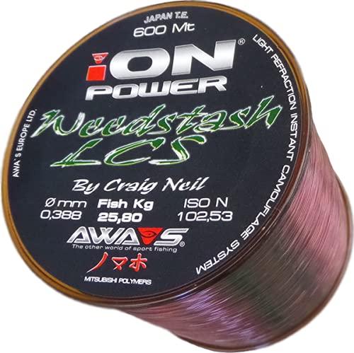 Angel monofilo, filo di nylon AWA SHIMA ION Power WEEDSTACH, 0,324 mm, 15,90 kg, 600 m