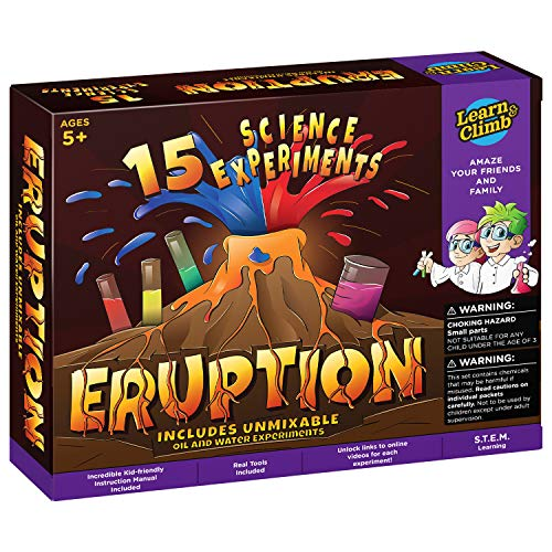 Learn & Climb Erupting Volcano Science Kit for Kids -15 Experiments!