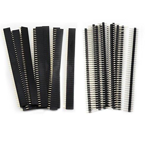 Aussel 20 piezas 2.54mm Breakaway PCB Junta 40Pin macho y