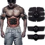 Estimulador Muscular EMS Muscle,Entrenamiento Abdominal EléCtrico,Dispositivo De Entrenamiento EMS Con 6 Modos 9 Intensidades,USB Recargable,Entrenador Muscular EléCtrico para Abdomen