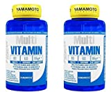 yamamoto nutrition multi vitamin integratore alimentare multivitaminico ad ampio spettro con minerali (2 barattoli da 60 compresse)