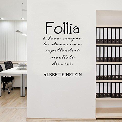 Adesiviamo Albert Einstein Follia è Fare Sempre la Stessa Cosa aspettandosi Risultati Diversi Wall Sticker Adesivo da Muro