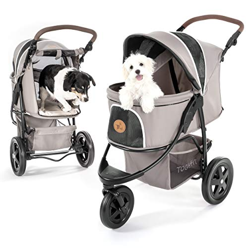 Hauck TOGfit Pet Roadster - Luxury Pet Stroller for Puppy, Senior Dog or Cat | Easy Foldable Three...