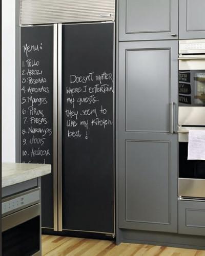 Cirad - Lavagna adesiva nera flessibile e rimovibile da frigo