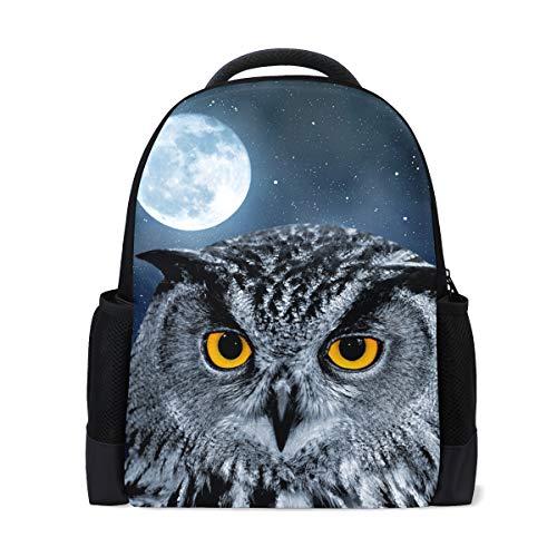 FANTAZIO Mochila Eagle Owl Bubo Mochila escolar Daypack