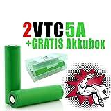 NEMT 2 x VTC5A Akku 18660 Akkus Accu batterien (2600mAh/3,7V/35A/Li-Ion)