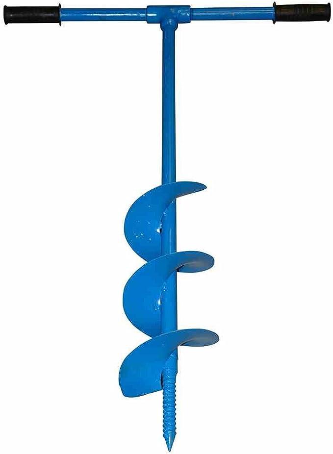 Erdbohrer 150mm 15cm pulverbeschichtet blau