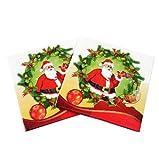 Da.Wa 20 servilletas de papel de doble capa para cócteles, servilletas de muñeco de nieve, para Navidad, fiestas de compromiso, vajilla