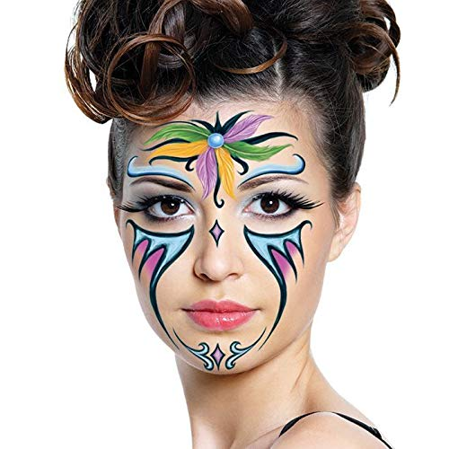 Halloween Realistic Temporary Costume Make Up Face Metallic Tattoo Kit Men or Women - (Baby Dragon) - 2 Kits