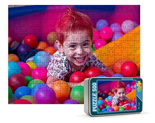Puzzles personalizados 540 piezas con foto y texto | Máxima calidad de impresión | Diferentes tamaños disponibles (9 a 2000 piezas) | Tamaño: 540 piezas (50 x 34,5 cm)   Con caja personalizada