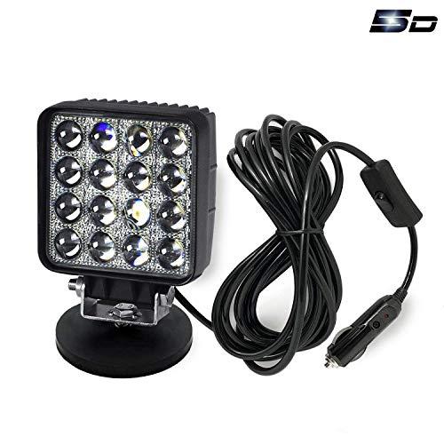 GOMAR LED-Arbeitslicht 12V Spotlicht Tragbares Arbeitslicht aus Road Spot Beam Lampe Bootslicht Notlicht mit Magnetisch Base wasserdicht für LKW 12V 24V Suchscheinwerfer