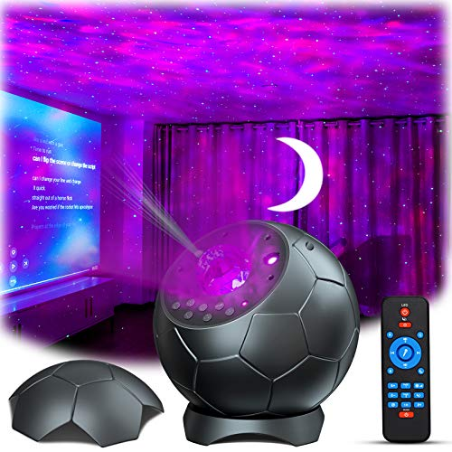 Laser Star Projector, Lupantte Moon Projector, USB Nebula Galaxy Light with Soothing Aurora Effects, Bluetooth Speaker, Sound Activated, Starry Night Light Projector for Bedroom, Christmas Light Decor