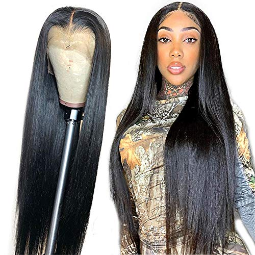 13×4 Lace Front Wigs Human Hair Straight Lace Frontal Wig Pre Plucked 150% Density Straight Human Hair wigs with Baby Hair HAIREASON Brazilian Hair Wigs 30inch