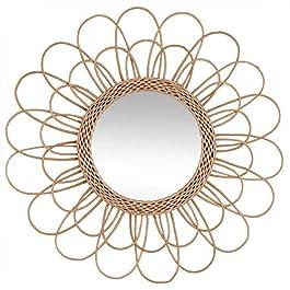 Atmosphera – Miroir Fleur en rotin D56