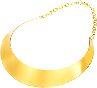 Women Choker Necklace Stainless Steel Or 18K Gold Plated Statement Jewelry Vintage Torque Necklaces