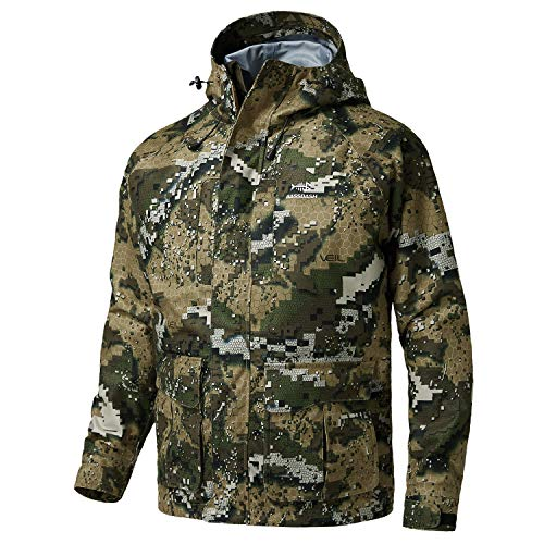BASSDASH Walker Breathable Waterproof Fishing Hunting Wading Jackets with Silent Outer Fabric for...