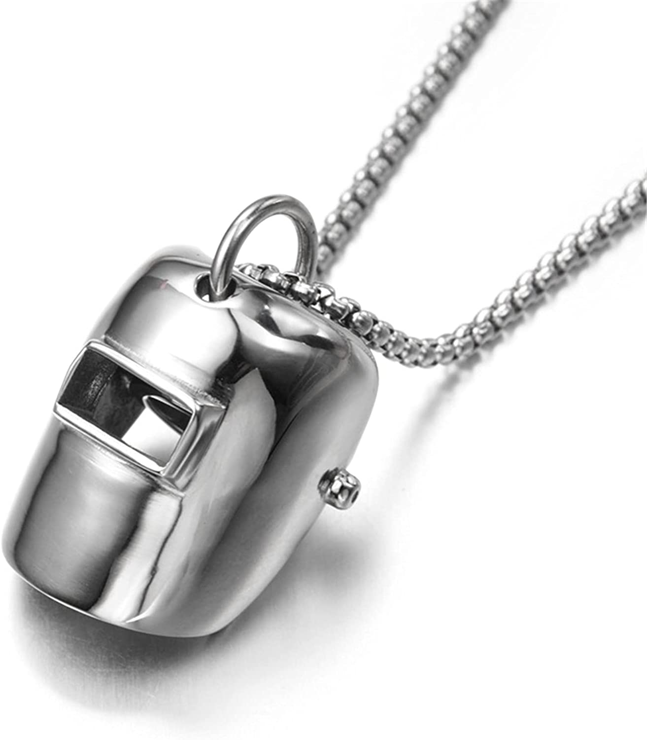 Hiphop Classic Welder Mask Pendant Necklaces for Welding Artisan Fashion Jewelry 27.5