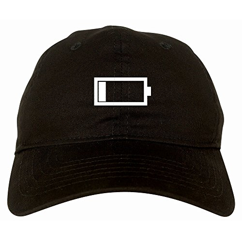 Kings Of NY Low Battery Cell Phone Meme Emoji 6 Panel Dad Hat Cap Black
