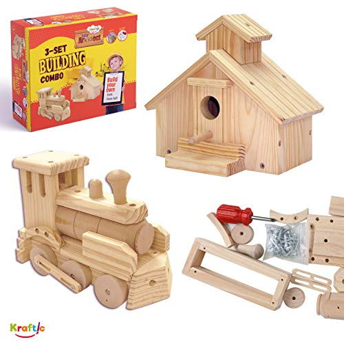 Kraftic Woodworking Building Kit for...
