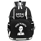 YOYOSHome One Punch Man Anime Saitama Cosplay Luminoso Messenger Bag Mochila School Bag - negro - Medium