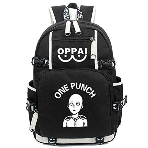 yoyoshome one-punch Man Anime Cosplay Saitama Luminous Messenger Bag Rucksack Schule Tasche schwarz Punch Man1