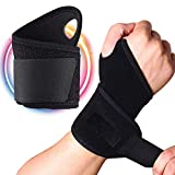 VIPMOON Wrist Support, 2pcs Adjustable Wrist Strap Breathable Wrist Brace Hand Support for Fitness, Bench Press, Weightlifting, Basketball, Golf, Tennis, Strenght Training - Left Right Hand Unisex