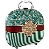 Gloss - caja de maquillaje, caja de regalo para mujeres - Maleta de Maquillaje - Vintage Style -  48 Pcs