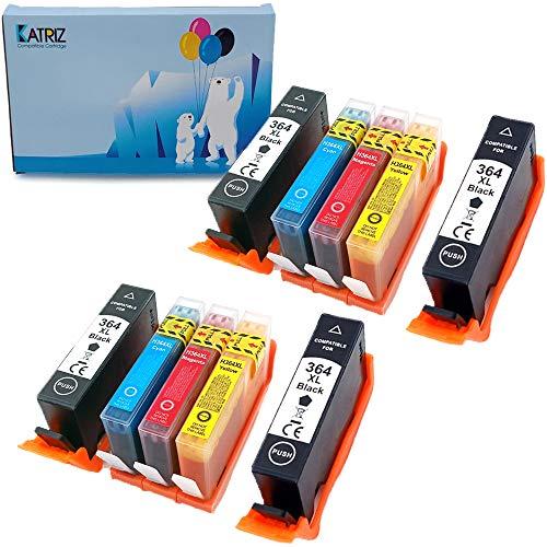 Ink & Toner Family 10 Piezas Reemplazo para HP 364xl Cartuchos de Tinta Compatible para HP Photosmart 5510 5512 5515 5520 5522 5524 6510 6520 6512 6515 B8558 C5370 C5324 C6388 D5460 D5463 3070A 3520
