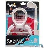 Pack Wii sports raquette/club de golf/volant Blanc