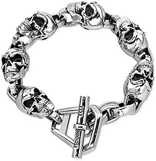 Room 101 Skull Link Bracelet in Stainless Steel 8.5''