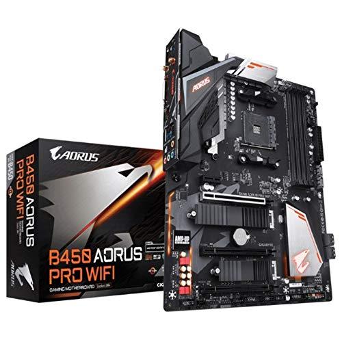 Placa Mãe Gigabyte para AMD AM4 ATX B450 AORUS PRO WIFI DDR4