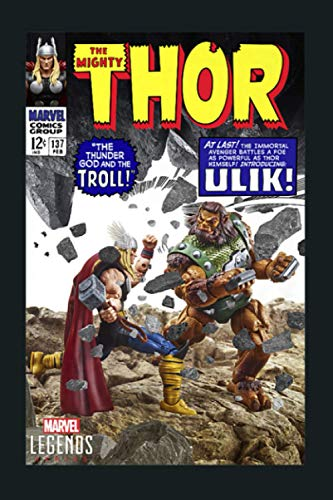 Marvel Legends Series Thor VS Olik Troll Comic Cover Premium: Notebook Planner -6x9 inch Daily Planner Journal, To Do List Notebook, Daily Organizer, 114 Pages