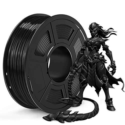 JAYO PLA 3D Printer Filament, PLA Filament 1.75mm, Dimensional Accuracy +/- 0.02 mm, 1kg Spool (2.2 lbs), PLA Black