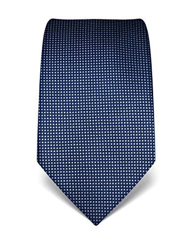 Vincenzo Boretti Corbata de hombre en seda pura, de cuadros azul claro