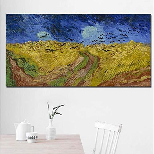 QJSTD Wurzeln und Stämme Werden auf Leinwand gedruckt Ölgemälde Leinwand verwendet, um Wohnzimmer ohne Rahmen zu dekorieren,80 * 100Rahmenlos