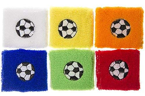 Schnooridoo 12 x Schweißband Fußball 7x7 cm Armband Party Mitgebsel Kindergeburtstag Give Away