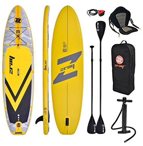 Zray E11 Combo 11' 0 ' Gonflable Sup Board Stand Up Paddle Complet Paquet 335x84x12cm Avec Kayak...