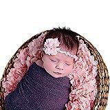 Sunmig Newborn Baby Stretch Wrap Photo Props Wrap-Baby Photography Props (Dark Purple)