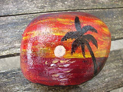 VickyHopeArt Piedra pintada a mano, recuerdo, adorno de jardín, pisapapeles, relleno de calcetín