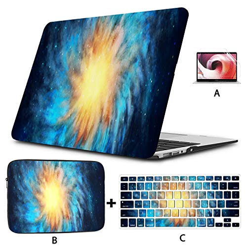Mac Book Pro Accessories Nebula Vincent Van Goghs Starry Night Cover MacBook Pro Hard Shell Mac Air 11'/13' Pro 13'/15'/16' with Notebook Sleeve Bag for MacBook 2008-2020 Version