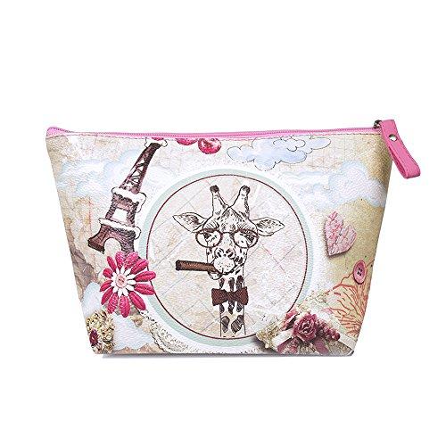 TaylorHe Make-up Bag Beauty Case Borsa Cosmetico Trucco Sacchetto borsa da toilette cranio, floreale