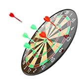 A modern twist on a classic game, the magnetized dart board reduces frustration and is safe for children to use. This set includes an 17-inch dartboard and six (6) lightweight magnetic darts. Challenge your children's imaginations and keep them activ...