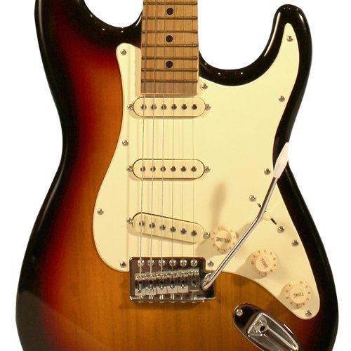 Sawtooth Sunburst Electric Guitar w/Vintage White Pickguard - Includes: Accessories, Amp, Gig Bag & Lesson
