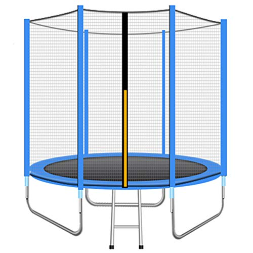 GWLTV Outdoor Trampoline 8ft / 10ft / 12ft Premium Trampoline with Safety Enclosure, Net, Ladder and Anchor Kit,Blue,12feet